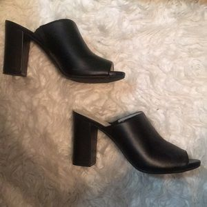 Anne Klein Black Open Toe Mule